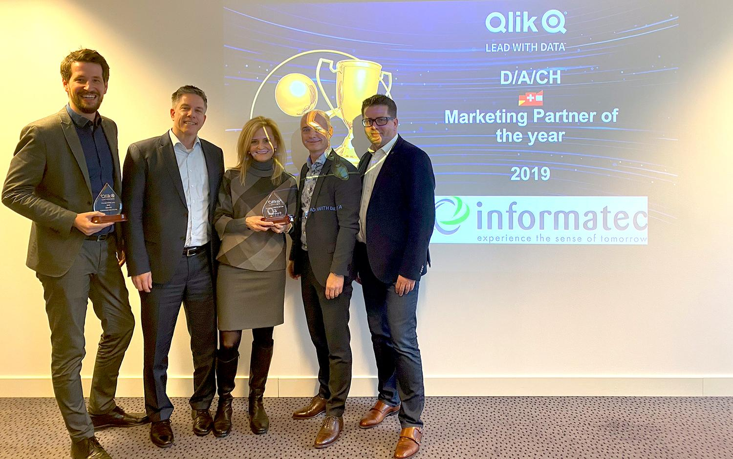Informatec Qlik Marketing Partner of the Year 2019 DACH